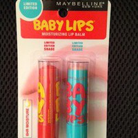 BabyLips NEW Limited Edition shades Coral Crush &amp; Twinkle