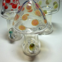 Glass Pipe, Custom MUSHROOM PIPE, Hitter, Chillum, Color Changing Glass Mushroom Pipe, Made to Order Cgge Team