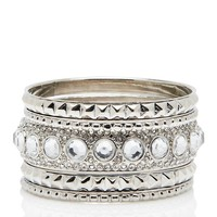 Paige Diamante 5 Bangle Set - Forever New