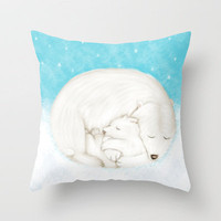 Sleeping Bears Throw Pillow by Dale Keys | Society6