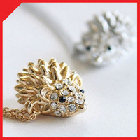 FREE cute Hedgehog necklace chain animal pet accessory pendant korean fashion