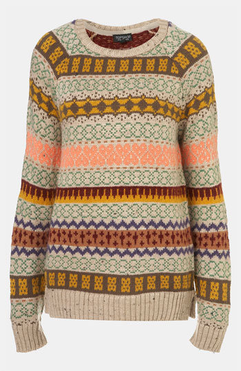 Topshop Nordic Knit Sweater | Nordstrom