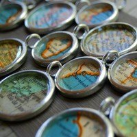 Personalized Vintage Map Necklace  You Pick by DaisyMaeDesignsShop