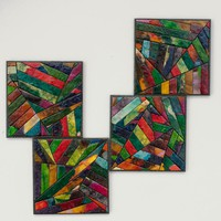 Coasters Handmade Paper Colorful Ge.. on Luulla