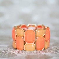 citrus colorblock bracelet at ShopRuche.com