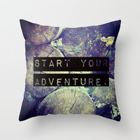 Start Your Adventure Throw Pillow by Josrick | Society6