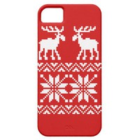 Moose Pattern Christmas Sweater iPhone 5 Case from Zazzle.com