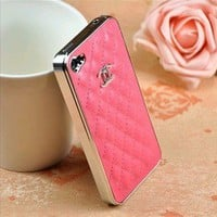 New Luxury Designer Rose Pink iPhone 4/4S Case