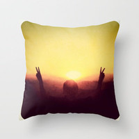 Peace Out Throw Pillow by Skye Zambrana | Society6