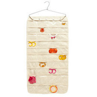 The Container Store > Canvas 80-Pocket Hanging Jewelry Organizer