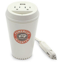 ThinkGeek :: Coffee Cup Power Inverter