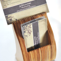 Uptight Business Card Holder by 50splinters on Etsy