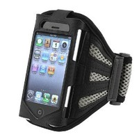 Amazon.com: eForCity Deluxe Armband Compatible With Apple® iPhone® 4 / iPhone® 3G / 3GS / iPod touch®, Black / Silver: MP3 Players & Accessories