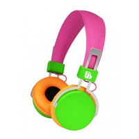 Neon Over Ear Headphones - Pink/Green/Orange