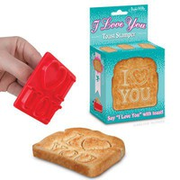 I Love You Toast Stamper - Archie McPhee & Co.