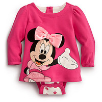 Minnie Mouse Disney Cuddly Bodysuit for Baby - Pink | Disney Store
