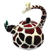 Amazon.com: Animal Kettle 2.8 Quart Whistling Enamel on Steel Giraffe Tea Kettle: Kitchen &amp; Dining