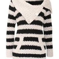 Stripe Chunky Knitted Jumper - by Pilot