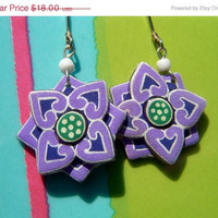 Korean Temple Purple Inspiration Earrings