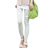 Rainy Cloud Print Cotton Leggings