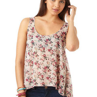Tie-Back Floral Tank