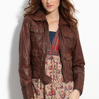 Lucky Brand Distressed Leather Jacket