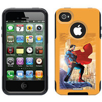 """Superman - On Ledge"" Superman design on OtterBox® Commuter Series® Case for iPhone 4 / 4S in Black"
