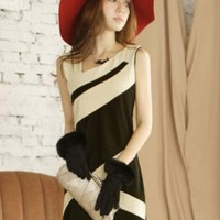 Slim Elegant Ladies Sleeveless Dresses Hot Sale : Wholesaleclothing4u.com
