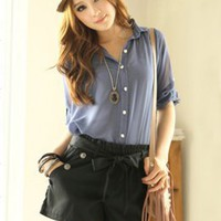 Casual Style Fashion Tie Girls Black Pants : Yoco-fashion.com