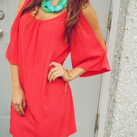 GLAM: Keep Him Curious Dress: Red