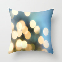 Winter Bokeh  Throw Pillow by Bree Madden  | Society6