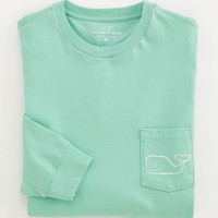 Men&#x27;s T-Shirts: Vintage Whale Long Sleeve Pocket T-Shirt  Vineyard Vines
