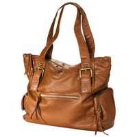 Mossimo Supply Co. Tan Tote with Zipper