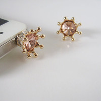 Bling Bling Crown - iPhone earphone plug dust plug - Gold