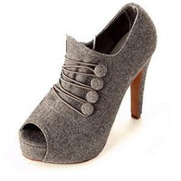 2011 Fall and Winter Fashion Ladies Pumps Gray  : Wholesaleclothing4u.com