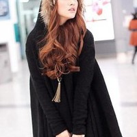 Bat Sleeve Hooded Sweater - Designer Shoes|Bqueenshoes.com