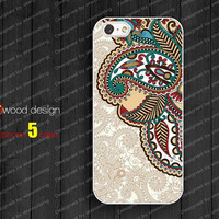 white iphone 5 cases  iphone case 5  iphone 5 cover colorized illustrator classic flower graphic design printing