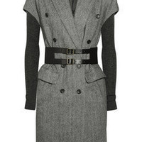 Elizabeth and James Belted herringbone wool-blend coat - 70% Off Now at THE OUTNET
