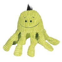 Hugglehounds Knotties Octopus Citron for Dogs | Plush Fleece Dog Toys