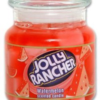 Amazon.com: Jolly Rancher by Hanna&#x27;s Candle 16.75-Ounce Jolly Rancher Watermelon Jar Candle: Home &amp; Kitchen