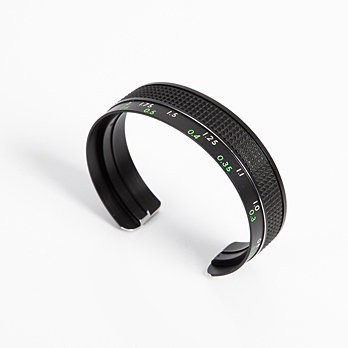 Recycled camera focus lens cuff - Bracelets - Unique modern jewellery by independent designers. Oye Modern.