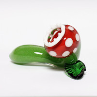Glass Pipe - Monster Plant- MADE TO ORDER- Hedcraft Glassworks-