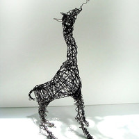 Hi Baby Giraffe  Unique Wire Animal Sculpture by wireanimals