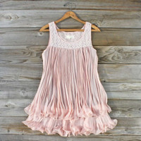 Pleats &amp; Plume Dress, Sweet Women&#x27;s Bohemian Clothing