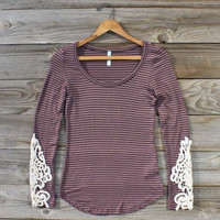 Quill & Lace Tee, Sweet Bohemian Tops