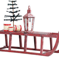 One Kings Lane - Season's Best - Holiday Wooden Sled