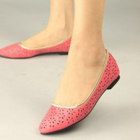 Hollow Out Women Flat Shoes Red Wholesale Online : Wholesaleclothing4u.com