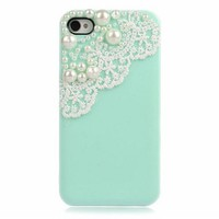 Lace with Pearl iPhone 4 / 4S Case
