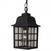 Craftmade Exterior Lighting Cast Aluminum Outdoor Grid Cage Pendant with Seeded Water Glass - Z271-05 - Exterior Lighting - Lighting