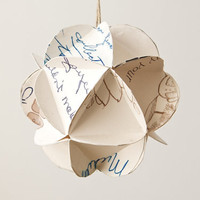 Geometric Upcycled Paper Ornament-Handwritten Wishes